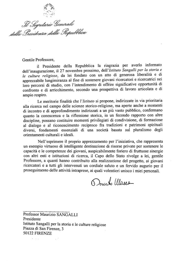 Indirizzo di saluto Napolitano
